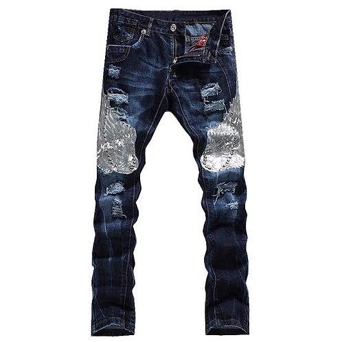Men's Angel Wings Jeans