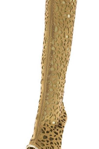 Platform Gold Shoes
