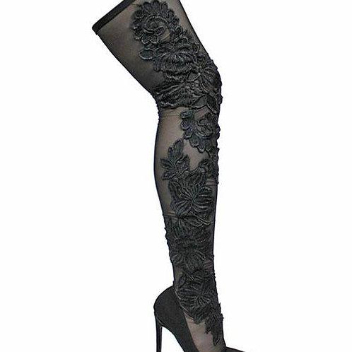 Black Thigh High heels
