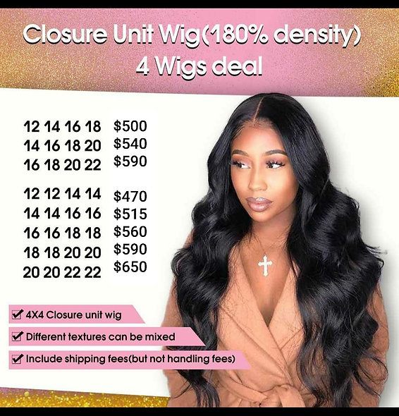Closure Unit 4 Wigs Deal