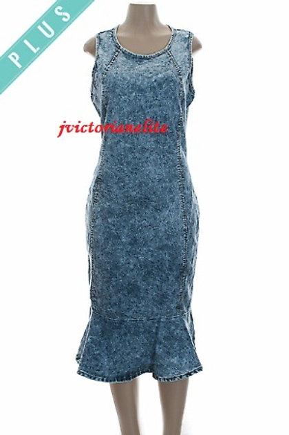 Denim Plus Dress