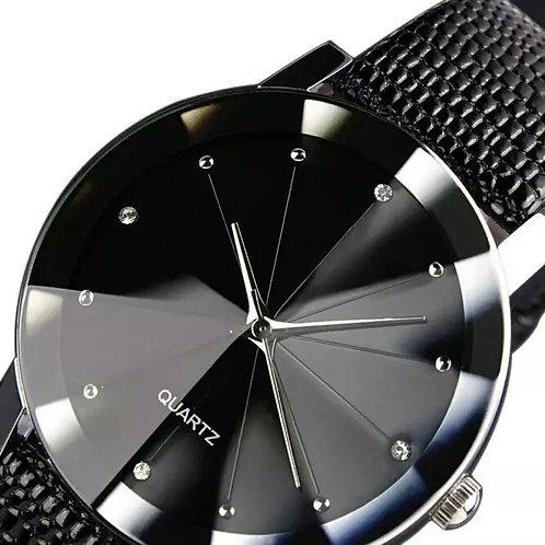 Men Quartz Black Watch