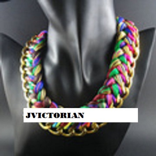 Exaggerated Fashion Big Choker Bib Multicolor