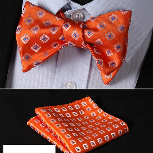 Silk Jacquard Woven Men Butterfly Self Bow Tie Bow