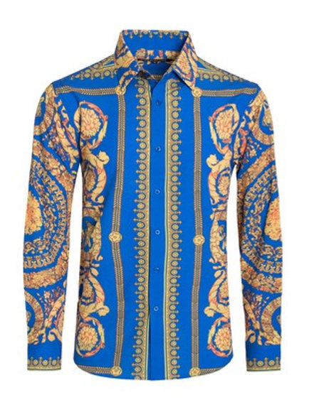 Royal Blue Button Down Shirt
