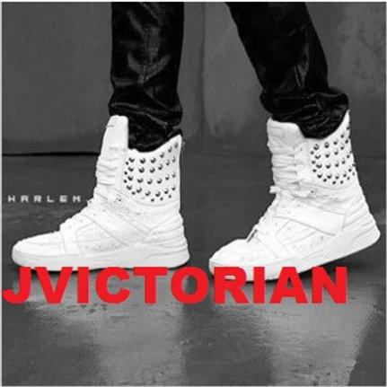 White High Top Studded Men's Sneaker