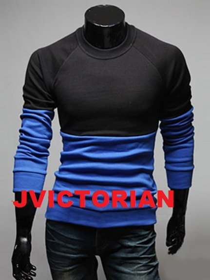 Round Neck Black and Blue Shirt