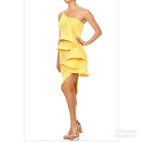 Yellow Fancee Dress