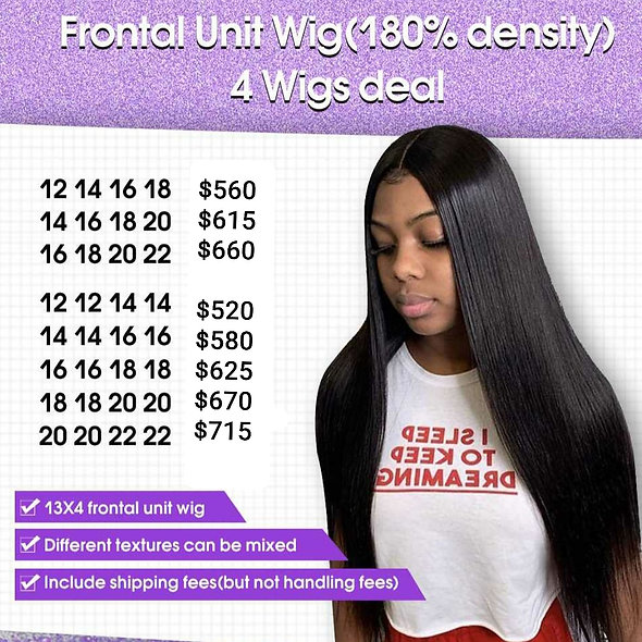 Frontal Unit 4 Wigs Deal