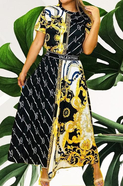 Sonja's Valentino  Graphic Dress
