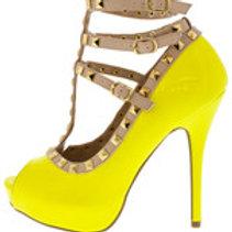 Yellow Peep Toe
