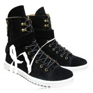 Stylish Zipper and Lace-Up Design Boots For Men