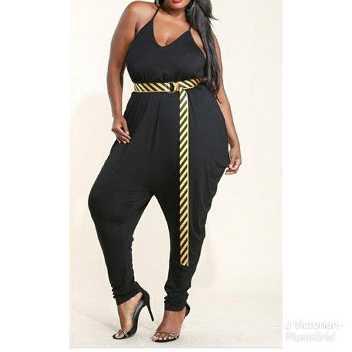 Black Plus Jumpsuit Monica