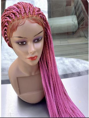 Pinky Long Braided Lace Wig