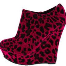 Fuschia Leopard Wedges