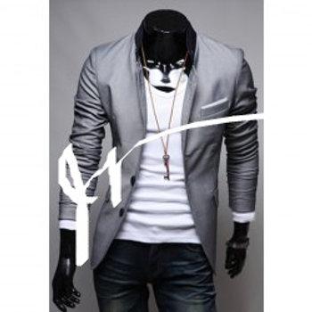 OWIND Color Men Slim Suit Jacket