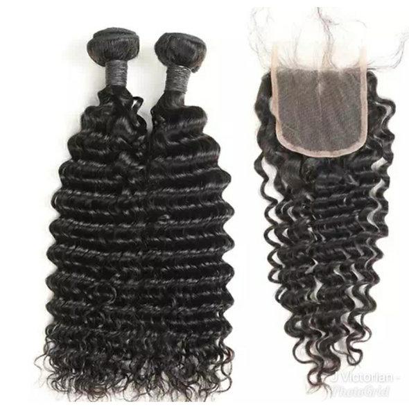 Deep Wave Lace Virgin Hair Closure