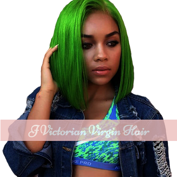 Green Bob Customized Color Wig