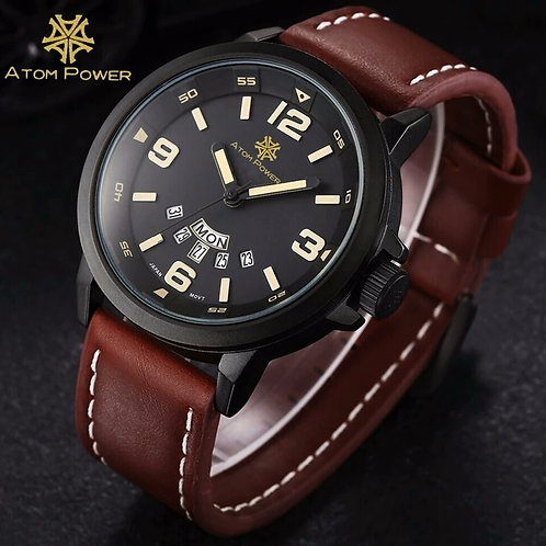 Fashion Quartz Wrist Watch with Big Dial Analog