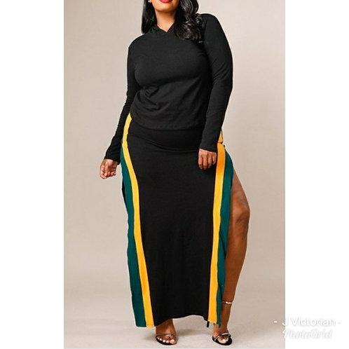 Multi Color Hoodie Plus Dress