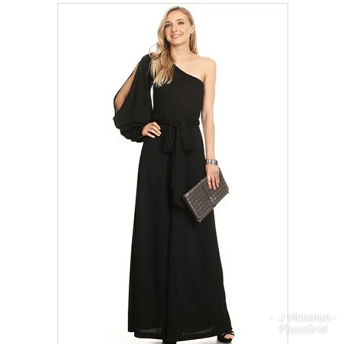 Black One Sleeve Jumpsuit