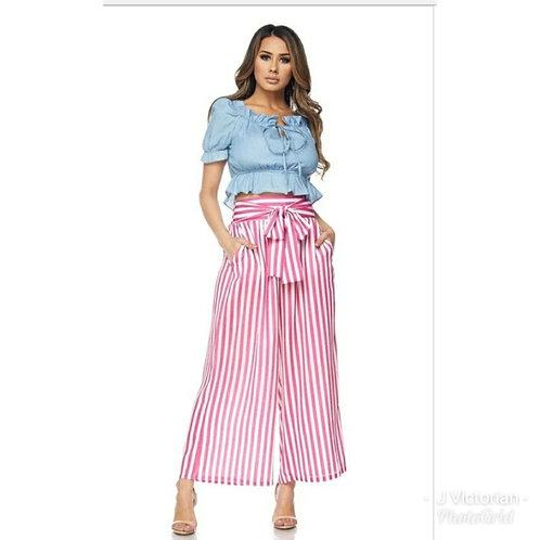 Pink Striped Pants