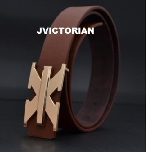 Fashion X-Shaped Buckle Solid Waist Belt For Men