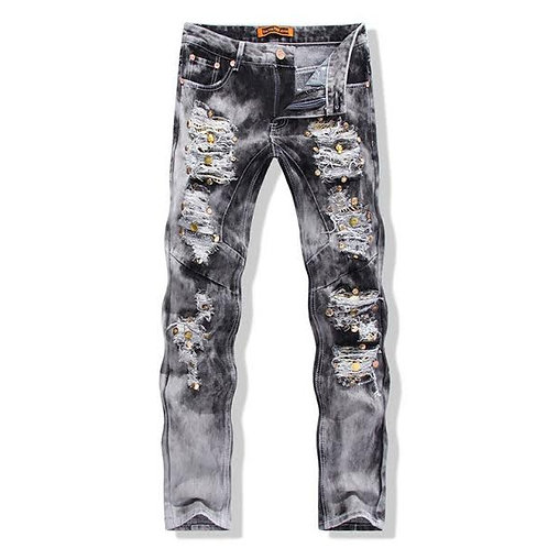 Men's Ripped Lite Shade Jeans