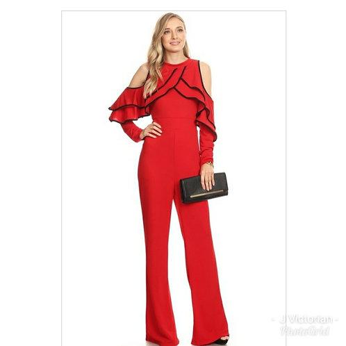 Red & Black Jumpsuit