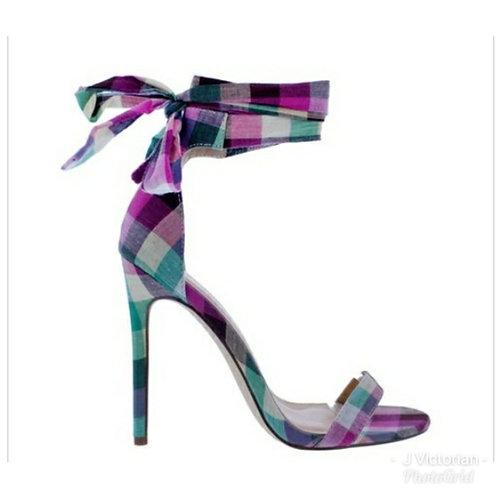 Plaid Bow-Tie Heels
