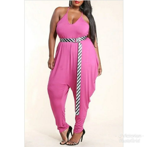 Pink Plus Jumpsuit Monica