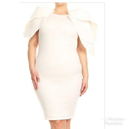 Beige Plus Dress