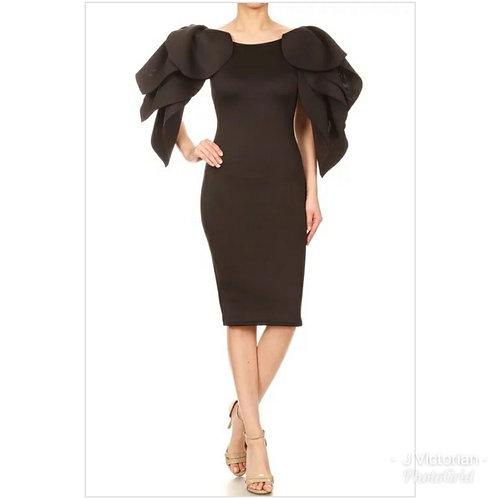 Black Fancee Sleeve Dress