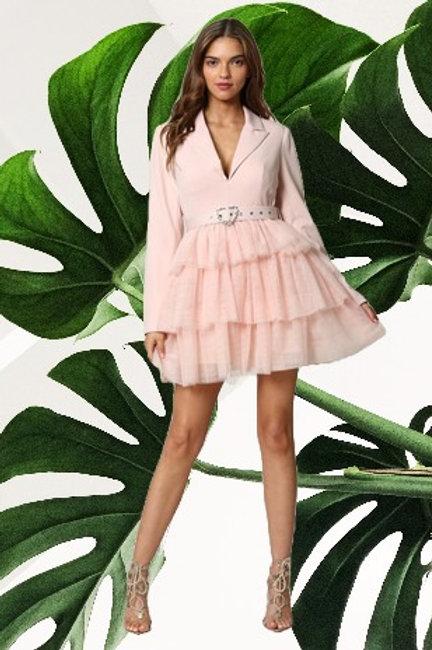 Light Pink Buckle Dress