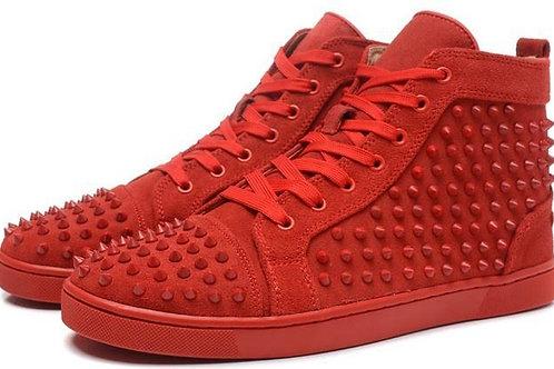 Red Studded Design Men's Shoes