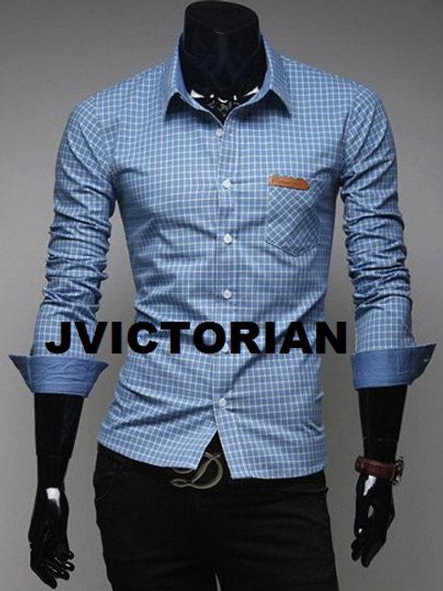 Blue Long Sleeve Button Shirt