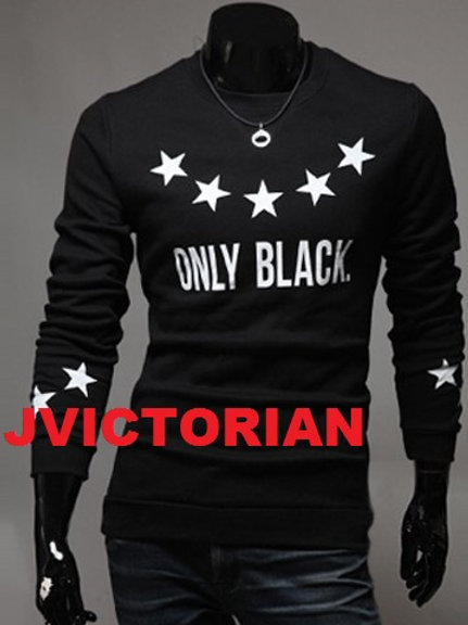 Only Black Long Sleeve Men's Shirt