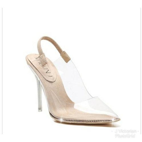 Clear Sling Back Heels