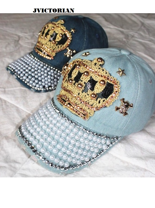 QUEEN BLING W/PEARL HATS