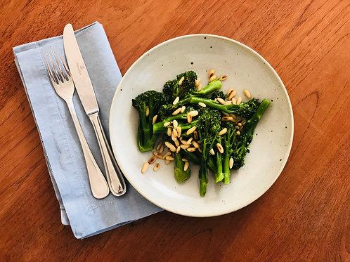Wilder Broccoli mit Pinienkernen VEGAN 1 Portion