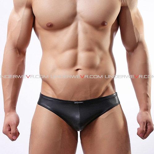 WOWHOMME - Men's Bikinis Leather Underwear WHC34