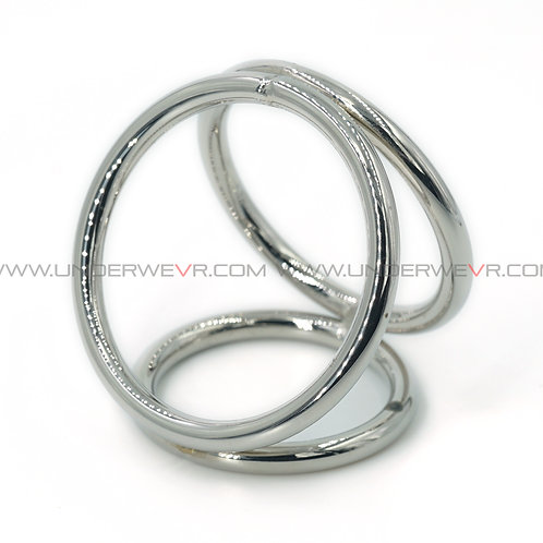CR16 Stainless Steel 3-Ways Cockcages