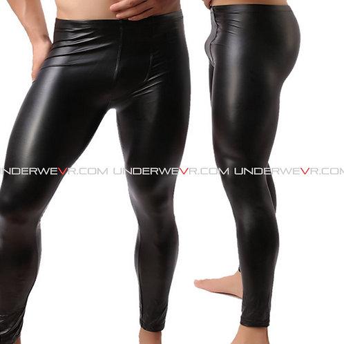 WOWHOMME - Men's Long Johns Leather Legging Underwear WHC48