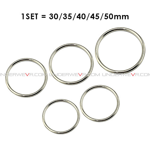 CR1E Slim Ring Stainless Cockring Party 5Pcs/Set