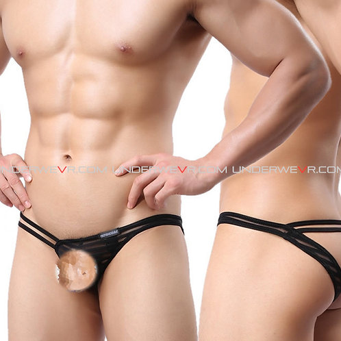 WOWHOMME - Men's Jockstraps Asymmetrical Strings Sexy Underwear WH29