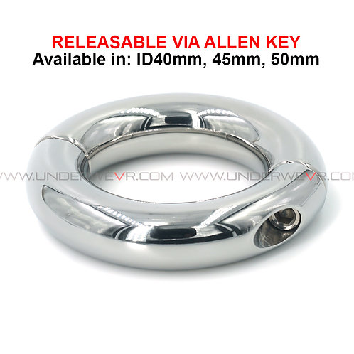 CR10 Stainless Steel Donut Cockrings Releasable Via Allen key