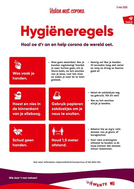Poster Hygiëneregels