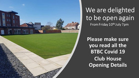 BTBC Covid 19 Club House Opening Details