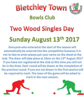 Two Wood Singles Day - REMINDER