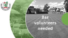 Bar Volunteers Needed